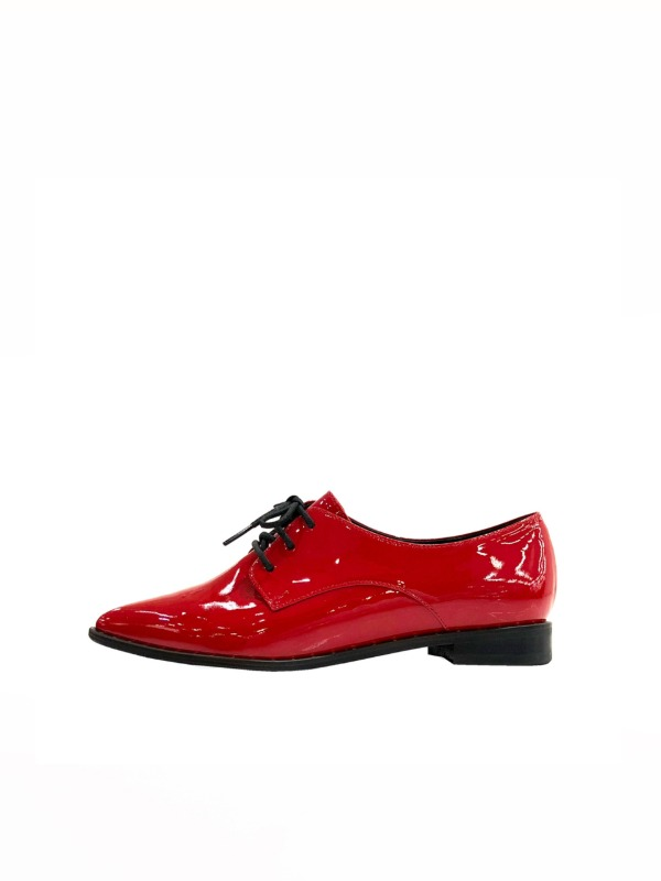 Twinkle gold loafer, red