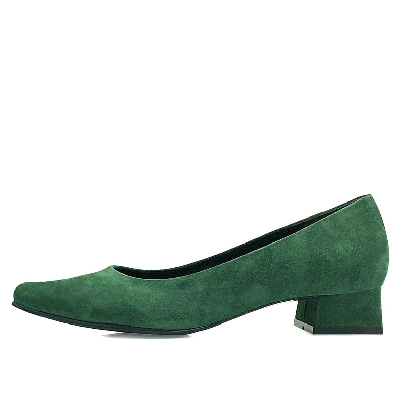 Basic collection suede, green