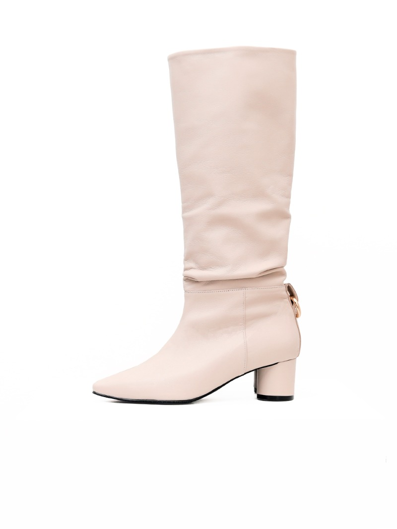 Lilith Boots, Beige