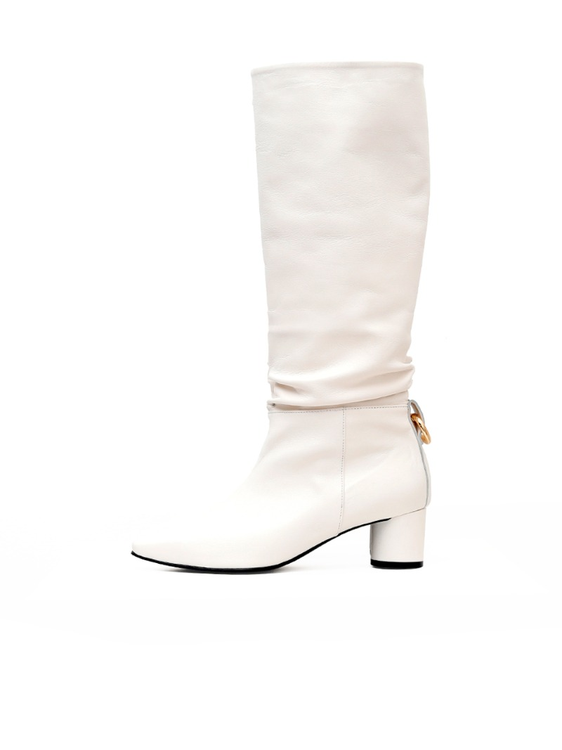 Lilith Boots, White