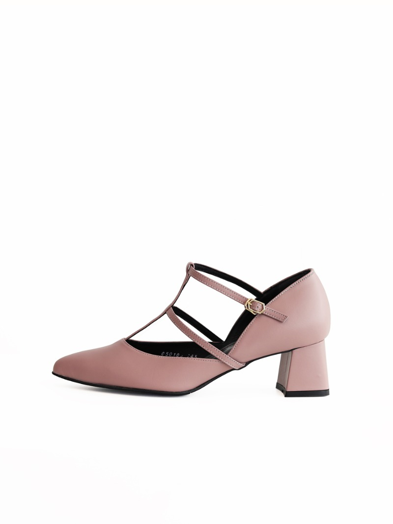 Cross strap heel, mud pink