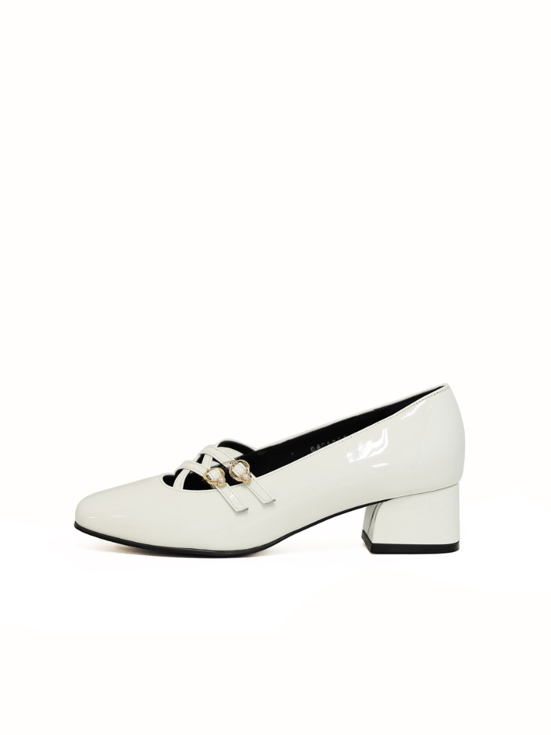Pearl 50 Pumps, White
